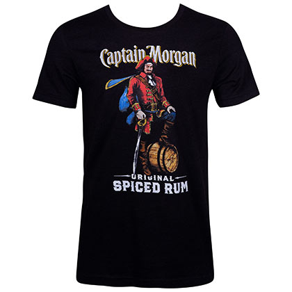 CAPTAIN MORGAN Spiced Rum Black Tee Shirt