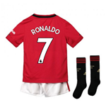 2019-2020 Man Utd Adidas Home Little Boys Mini Kit (RONALDO 7)