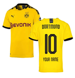 2019-2020 Borussia Dortmund Puma Authentic Home Football Shirt (Your Name)
