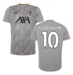 2019-2020 Liverpool Off Pitch Lightweight Tee (Grey) (Your Name)