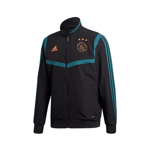 2019-2020 Ajax Adidas Presentation Jacket (Black)