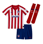 2019-2020 Atletico Madrid Home Nike Little Boys Mini Kit