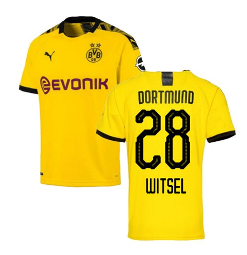 2019-2020 Borussia Dortmund Puma Home Football Shirt (WITSEL 28)