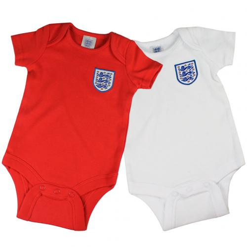 England F.A. 2 Pack Bodysuit 9/12 mths