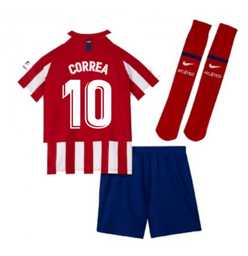 2019-2020 Atletico Madrid Home Nike Little Boys Mini Kit (CORREA 10)
