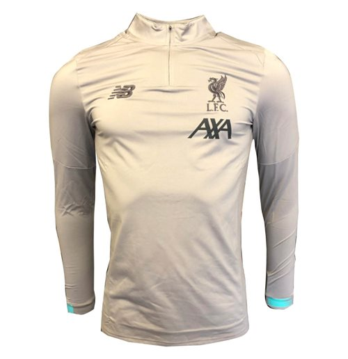 2019-2020 Liverpool On Pitch Midlayer Top (Grey) - Kids