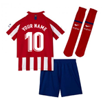 2019-2020 Atletico Madrid Home Nike Little Boys Mini Kit (Your Name)
