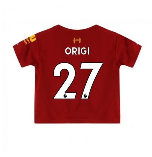2019-2020 Liverpool Home Little Boys Mini Kit (Origi 27)