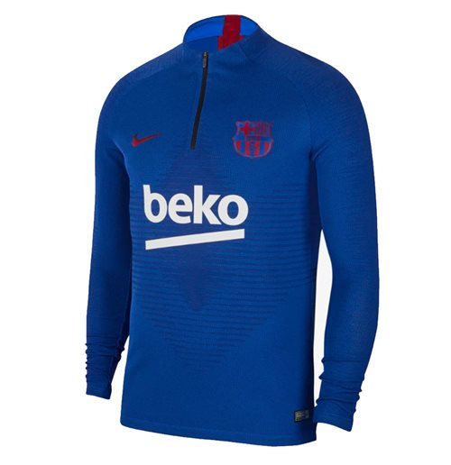2019-2020 Barcelona Nike Strike Vaporknit Drill Top (Blue)