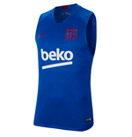 2019-2020 Barcelona Nike Sleeveless Training Shirt (Blue)