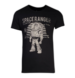 DISNEY Toy Story Space Ranger Buzz Lightyear Vintage T-Shirt, Male, Small, Black