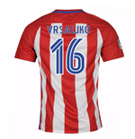 2016-17 Atletico Madrid Home Shirt  (Vrsaljko 16)