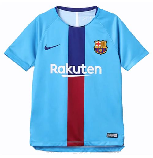 2018-2019 Barcelona Nike Pre-match Training Shirt (Equator Blue) - Kids