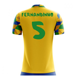 2018-2019 Brazil Home Concept Football Shirt (Fernandinho 5) - Kids