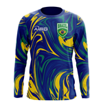 2018-2019 Brazil Long Sleeve Away Concept Football Shirt (Kids)