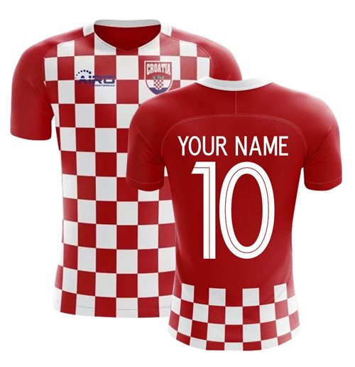2018-2019 Croatia Flag Concept Football Shirt (Your Name) -Kids