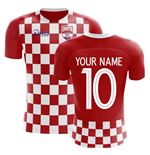 2018-2019 Croatia Flag Concept Football Shirt (Your Name)