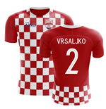 2018-2019 Croatia Flag Concept Football Shirt (Vrsaljko 2)