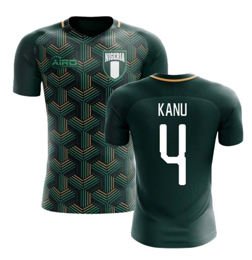 2018-2019 Nigeria Third Concept Football Shirt (Kanu 4)