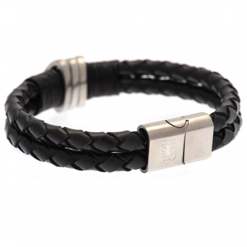 Aston Villa F.C. Leather Bracelet