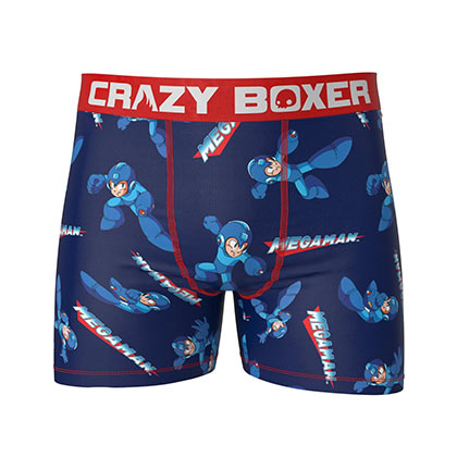 MEGA MAN Blue And Red Men's Boxers