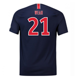 2018-2019 PSG Home Nike Football Shirt (Weah 21)