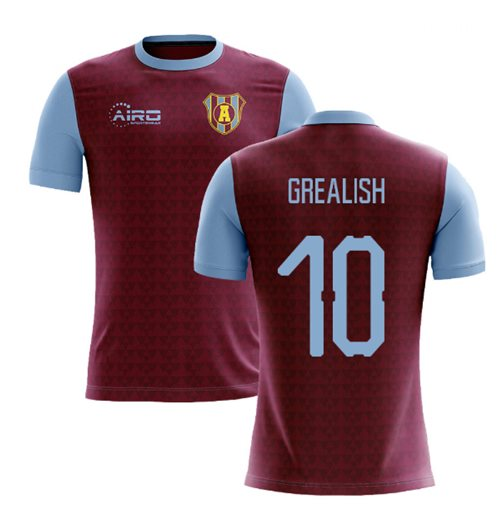 2019-2020 Villa Home Concept Football Shirt (Grealish 10)