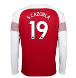 2018-2019 Arsenal Puma Home Long Sleeve Shirt (S Cazorla 19)