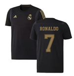 2019-2020 Real Madrid Adidas Training Tee (Black) (RONALDO 7)