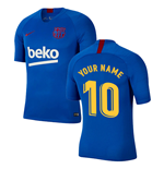 2019-2020 Barcelona Nike Training Shirt (Blue) (Your Name)