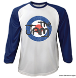 The Jam Unisex Raglan Tee: Target Logo Distressed