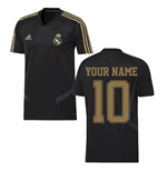 2019-2020 Real Madrid Adidas Training Shirt (Black) (Your Name)