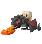 Game of Thrones POP! Rides Vinyl Figure Daenerys on Fiery Drogon 18 cm