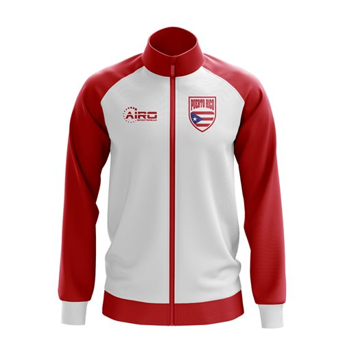 Puerto Rico Concept Football Track Jacket (White) - Kids