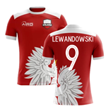 2018-2019 Poland Away Concept Football Shirt (Lewandowski 9)