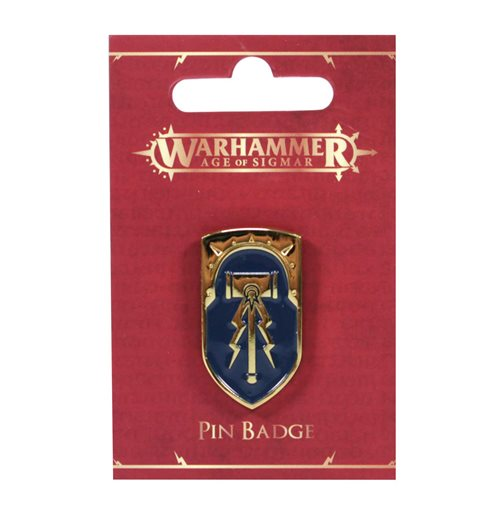 Warhammer: Age of Sigmar Enameled Pin - Stormcast Shield