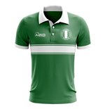 Nigeria Concept Stripe Polo Shirt (Green)