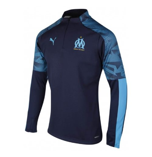2019-2020 Marseille Quarter Zip Training Top (Peacot)