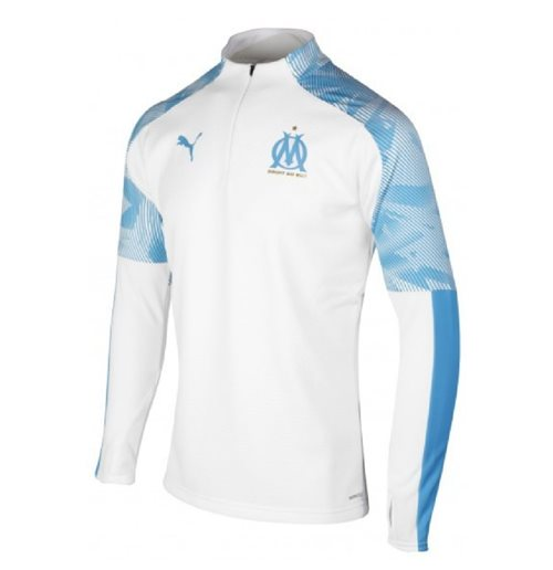 2019-2020 Marseille Quarter Zip Training Top (White)