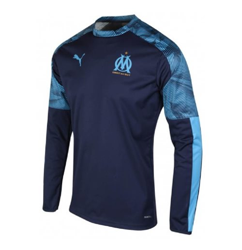 2019-2020 Marseille Training Crew Sweat (Peacot)