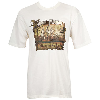 CAPTAIN MORGAN Calling All Captains White Tee Shirt