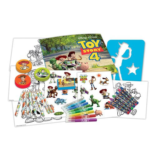 DISNEY Toy Story 4 My Activities 3-in-1 Storage Box with 60pcs Creative Accessories, Multi-colour