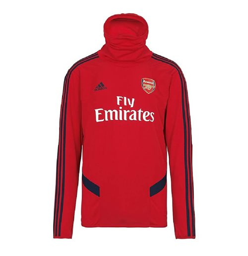 2019-2020 Arsenal Adidas Warm Top (Red)