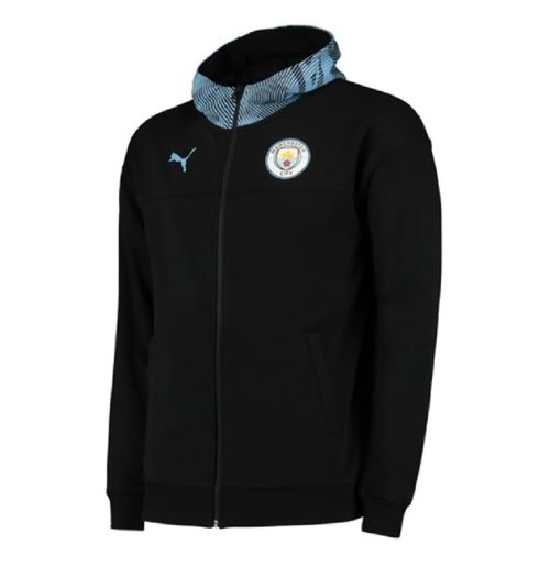 2019-2020 Manchester City Puma Casuals Full Zip Hoody (Black)