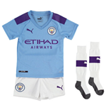 2019-2020 Manchester City Home Little Boys Mini Kit