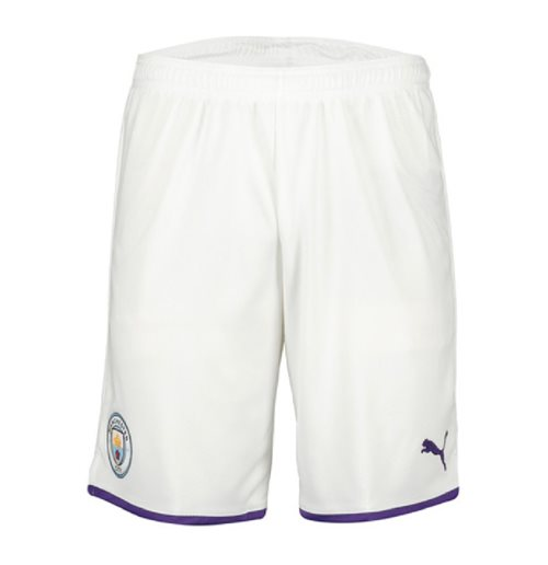 2019-2020 Manchester City Home Football Shorts (White)