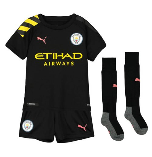 2019-2020 Manchester City Away Little Boys Mini Kit