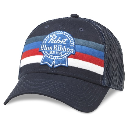 PBR Striped Adjustable Royal Navy Snapback Hat