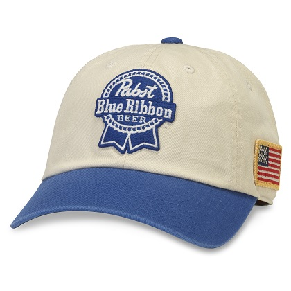 PBR Classic Blue And White Adjustable Strapback Hat