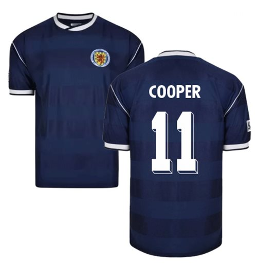 Score Draw Scotland 1986 Retro Football Shirt (Cooper 11)